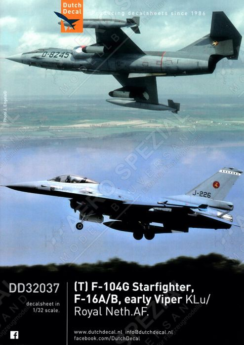 DD32037 F-16 Fighting Falcon & F/TF-104 Starfighter Royal Netherlands Air Force