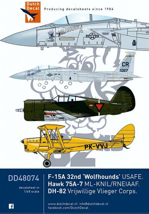 DD48074 F-15 Eagle, Bü 131 Jungmann, Hawk 75, Hurricane & Tiger Moth