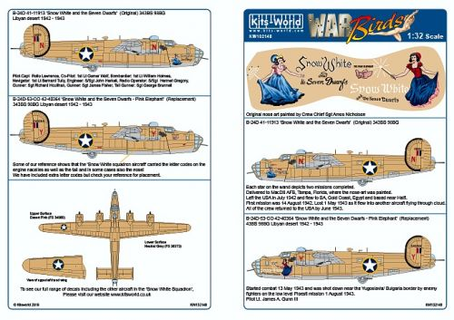 KW132148 B-24D Liberator: Snow White and the Seven Dwarfs