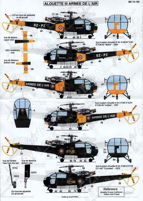 BD72120 Alouette III French Air Force