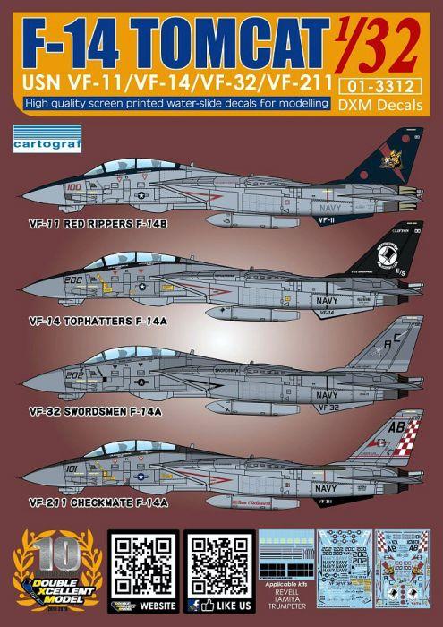 DXM32014 F-14A/B Tomcat VF-11, VF-14, VF-32 & VF-211