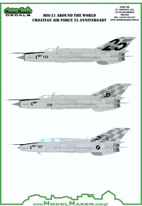MOD48098 MiG-21bisD Fishbed-L Croatian Air Force