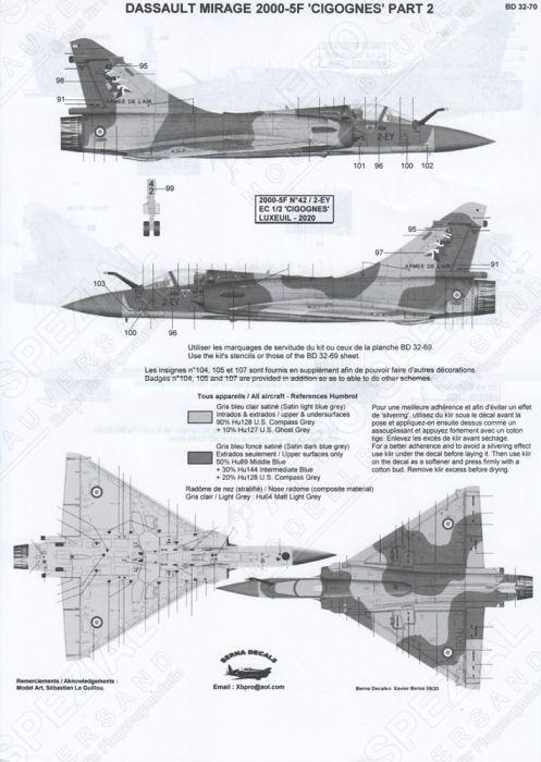 BD32070 Mirage 2000-5F EC 1/2 Cigognes Teil 2