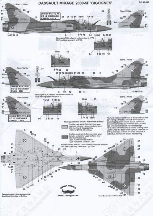 BD48146 Mirage 2000-5F EC 1/2 Cigognes Part 1