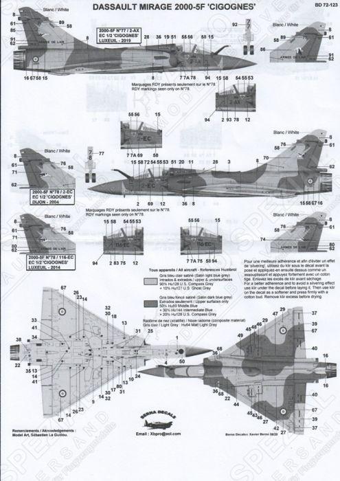 BD72123 Mirage 2000-5F EC 1/2 Cigognes Teil 1