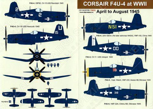 DPC72033 F4U-4 Corsair April to August 1945