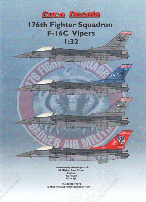 EU32126 F-16C Block 30 Fighting Falcon Wisconsin ANG