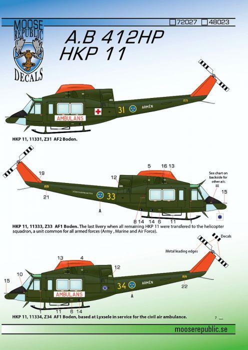 MRD7227 HKP 11 (Bell 412HP)