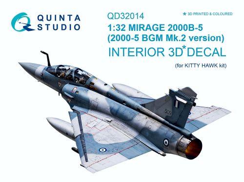 QD32014 Mirage 2000B-5 (2000-5BGM Mk.2) Cockpit Details