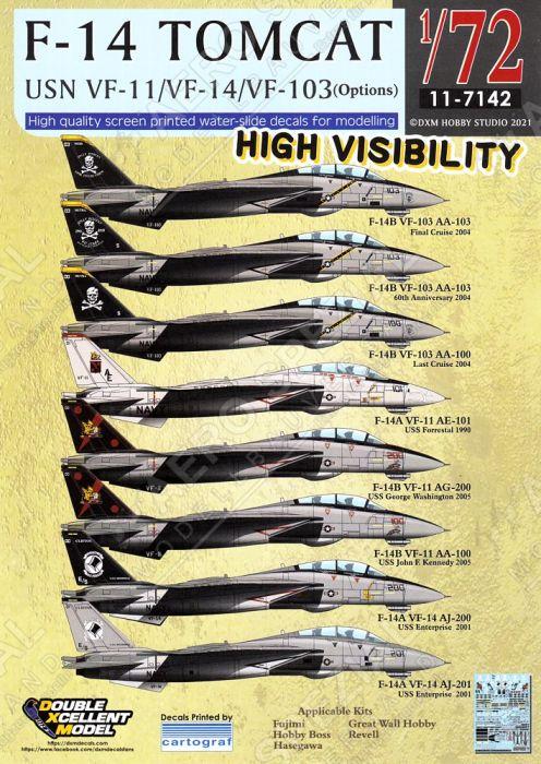DXM72042 F-14 Tomcat VF-11, VF-14 & VF-103 High Visibility