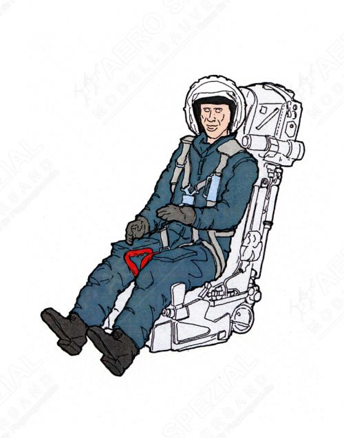 AB32155 Jet Pilot Soviet Air Force in K-36 Ejection Seat