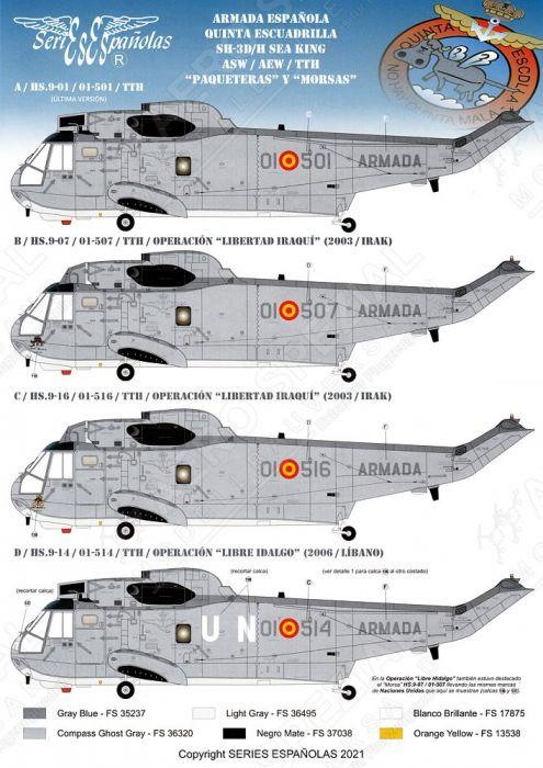 SE3172 SH-3H Sea King Spanish Navy