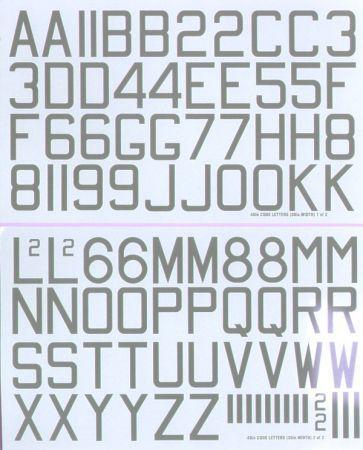 XD48050 Buchstaben und Ziffern in Medium Sea Grey
