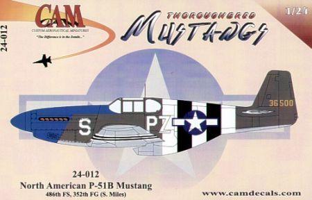 CAM24012 P-51B Mustang 486th FS/352nd FG