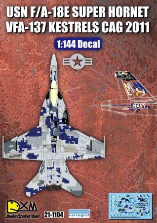 DXM14004 F/A-18E Super Hornet Digital-Tarnung VFA-137 Kestrels