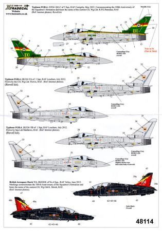 XD48114 Typhoon FGR.4 & Hawk T.2 RAF Anniversary Schemes