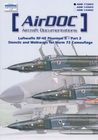 ADMS733 RF-4E Phantom II Stencils Norm 72