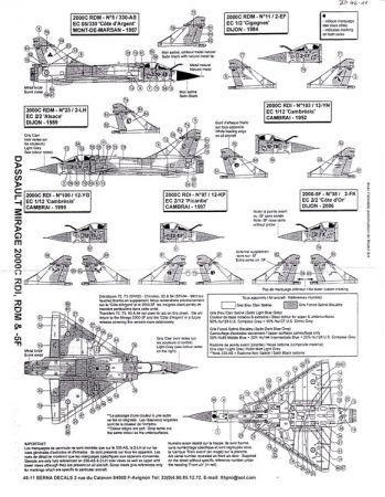 BD48011 Mirage 2000C RDI/RDM & Mirage 2000-5F