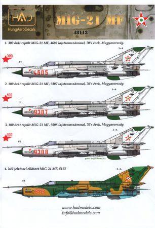 HU48113 MiG-21MF Fishbed-J Hungarian Air Force