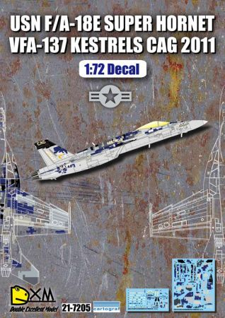 DXM7205 F/A-18E Super Hornet Digital-Tarnung VFA-137 Kestrels