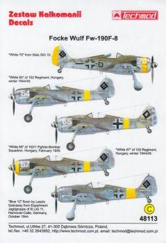 TMD48113 Fw 190 F-8 Luftwaffe & ungarische Luftwaffe