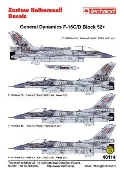 TMD48114 F-16C/D Block 52+ Fighting Falcon polnische Luftwaffe inklusive NATO Tiger Meet 2011