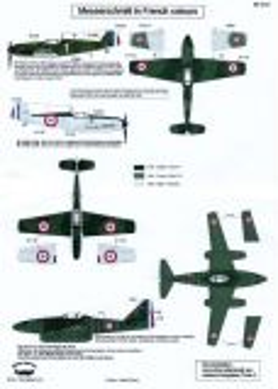 BD32031 Bf 109 E-1, Bf 109 E-3 & Me 262 A-1a French Markings