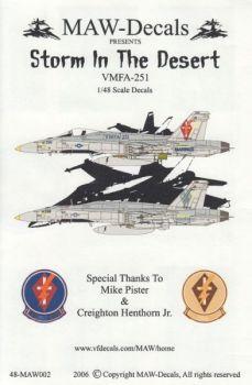 MWD4802 F/A-18C Hornet CAG jet VMFA-251 Thunderbolts