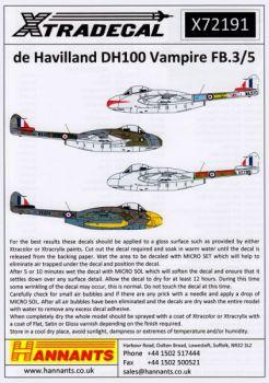 XD72191 Vampire F.3 & FB.5