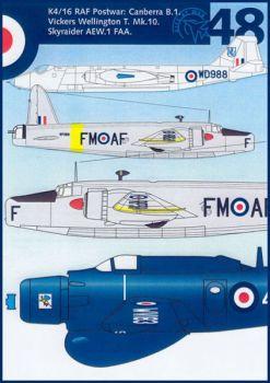 DDK4816 Canberra, Wellington & Skyraider RAF/FAA