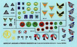 BD72083 Jaguar A & E Staffelwappen französische Luftwaffe #1