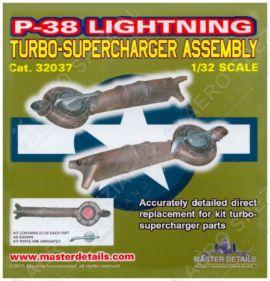 MD32037 P-38 Lightning Abgasturbolader