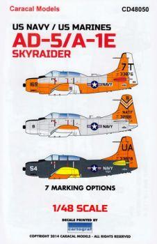 CD48050 A-1E/G Skyraider & AD-5 Skyraider U.S. Navy/U.S. Marines