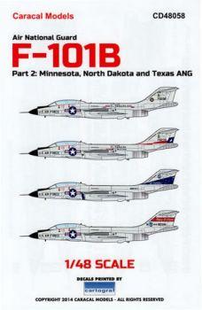 CD48058 F-101B Voodoo North Dakota, Minnesota & Texas ANG