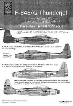 DDS7212 F-84E/G Thunderjet, niederländische Luftwaffe