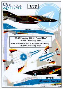 SY48076 F-4F Phantom II & RF-4E Phantom II Sonderanstriche WTD 61