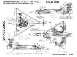 BD72003 Mirage 2000C französische Luftwaffe