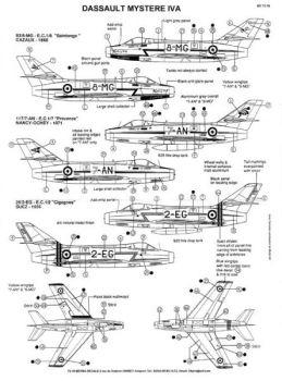 BD72018 Mystère IVA französische Luftwaffe