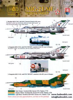 HU72114 MiG-21MF Fishbed-J (Slowakei, Ungarn)