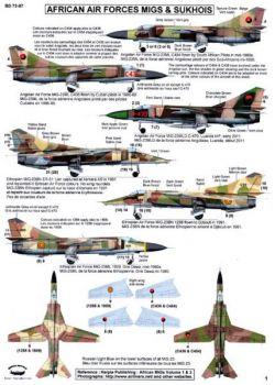 BD72087 Afrikanische Luftstreitkräfte (MiGs und Suchois)