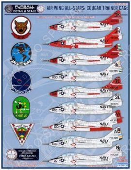FD&S4801 F9F-8T/TF-9J Cougar CAG jets