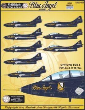 FD&S4805 F9F-8/TF-9J Cougar Blue Angels