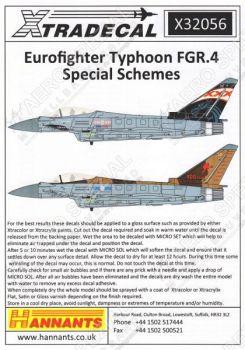 XD32056 Eurofighter Typhoon FGR.4 Sonderanstriche Teil 1