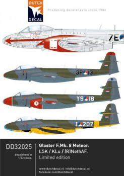 DD32025 Meteor F.8 niederländische Luftwaffe