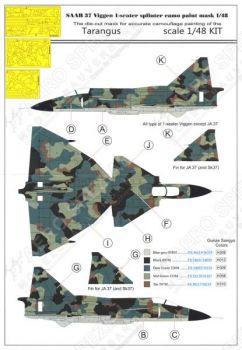 MMK4876 Saab 37 Viggen Maskierfolie für Splittertarnung