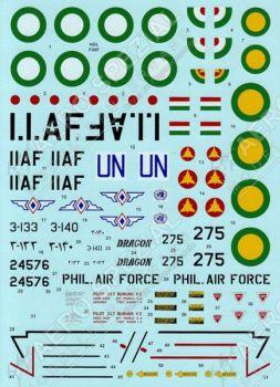 HD72064 F-86F-25/30 Sabre Äthiopien, Iran & Philippinen
