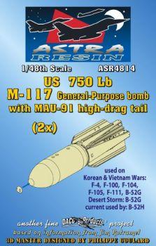 ASR4814 M117 (750 lb) Universalbombe