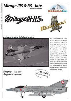 MC48015 Mirage IIIS & Mirage IIIRS Schweizer Luftwaffe (spät)
