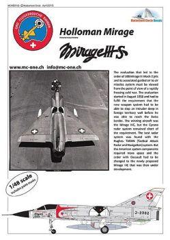 MC48016 Mirage IIIS Schweizer Luftwaffe