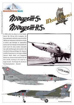 MC72014 Mirage IIIS & Mirage IIIRS Schweizer Luftwaffe